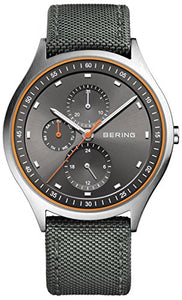 Bering Men's Titanium Watch with Nylon Strap,  Black / Silver