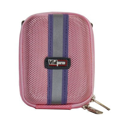 "VidPro ACT-15 Hard Shell Digital Point-n-Shoot Camera Carry Case ""Pink"" , 4.75"" x 2.75"" x 1.75""."