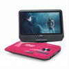 IMPECCA DVP-917P 9-inch 270° Swivel Screen Portable DVD Player, USB & SD Slots,Ability to Copy from CD to USB, 3-4 hours playback, Remote Control, Pink