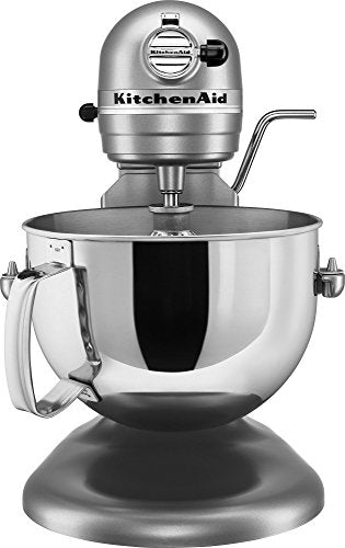 KitchenAid KV25G0XSL Professional 5 Plus Series 5QT 450W 10 Speed Stand Mixer, Silver STANDMIX