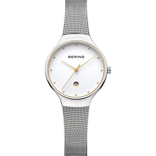 Bering Women's Classic Mesh Band Watch, Silver