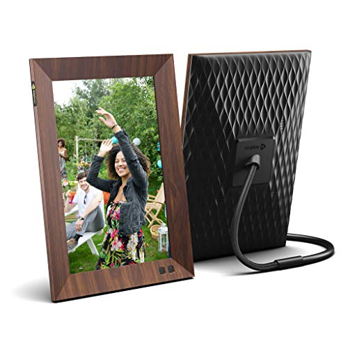 Nixplay Smart Digital Picture Frame 10.1 Inch Wood-Effect