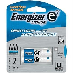 Energizer Eveready L92BP-2 Ultimate Lithium AAA Batteries, 2 Pack AAABATT2PK