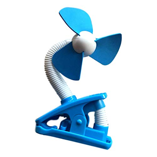 O2 Cool Battery Operated Fan 4 Inch Clip On Fan, Blue (2 AA Batteries, Not Included)