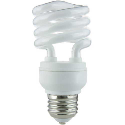 Sunlite SMS13/65K SMS13/65K 13-watt Super Mini Spiral Energy Saving Medium Base CFL Light Bulb, Daylight (Good for kosher Shabbos Lamp)