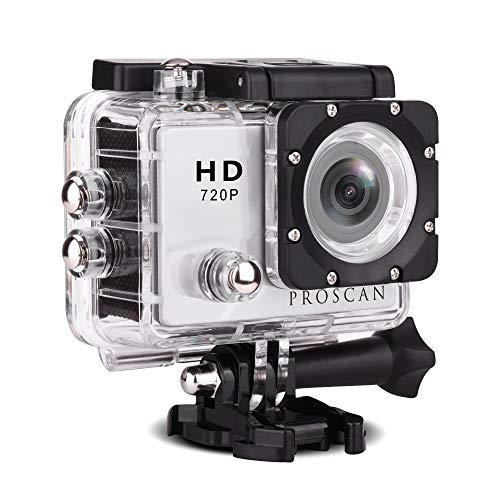 "Proscan Action Camera Underwater Waterproof 30M Camera with 2"" LCD Wide Angle View 720P HD Sports Action Camera"