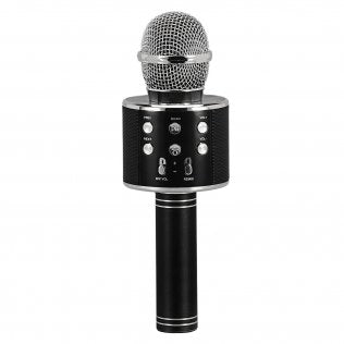 Supersonic Karaoke Microphone With Built-in Hi-fi Speaker, Black