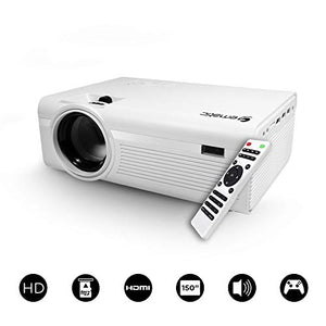 "Ematic 150"" HD Multimedia Theater Projector (EPJ580W), White 480p VGA/ 2 x HDMI IN/ USB 2.0/ MicroSD Card/ 3.5mm Headphone jack Built-in speakers"