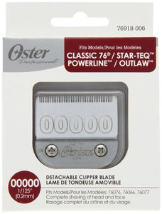 Oster Size00000 Replacement Metal Blade for Classic 76/Titan/Turbo 77 (1/125 / .2mm)