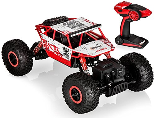 Top Race TR-130 Remote Control RC Monster Truck Rock Crawler - 2.4Ghz Transmitter, 4WD Off Road RC Car