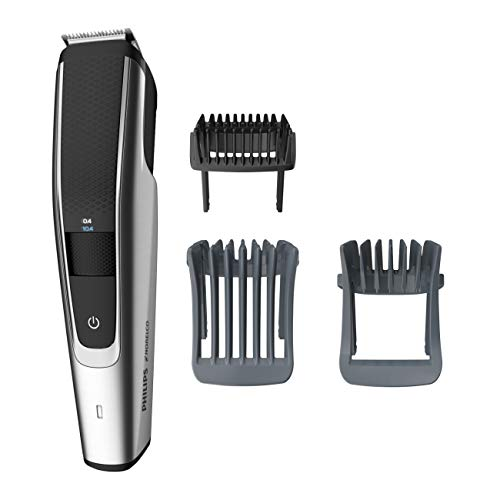 Philips Norelco Beard Trimmer Series 5000, BT5511/49  Electric Cordless  One Pass Beard and Stubble Trimmer with Washable feature for easy clean, Black and Silver