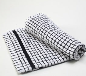 European Art 100% Cotton Dish Towel (Black)