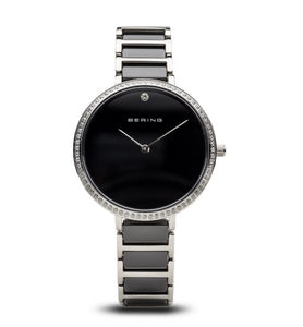 Bering Women's Ceramic Collection Watch, Silver / Black