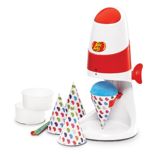 Jelly Belly JB15315 Easy to Use Electric Snow Cone Maker Fast Fun and Easy Icy Treat, White/Red