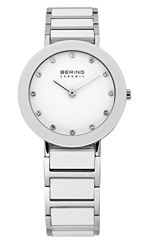Bering Women's Ceramic Collection Watch, Silver / White