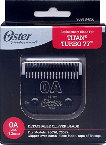 OSTER DETACHABLE METAL CLIPPER BLADE SIZE0A  076918-656-005 3/64