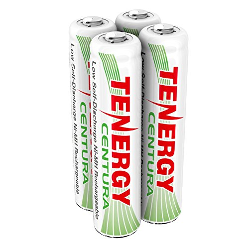 Tenergy Centura NiMH AAA 800mAh LSD (RTU) Rechargeable Batteries BATTAAA4PK works with Panasonic Phones 4 pack