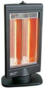 Comfort Zone Flat Panel Halogen Heater