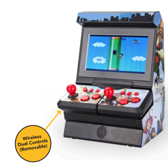 I'm Game GP230 Handheld Wireless Retro Game Console with 300 Preloaded Games, Two Player and Single Player Options, 4.3 Inch Screen 2x AAA Batteries per Controller, Usb Power Supply or Use Batteries 4x AAA Main Console