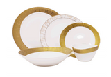 Brilliant Formal Dinnerware Set, (Seville Platine, Seville Gold)
