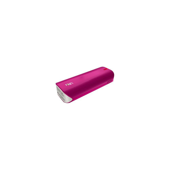 UNU UNU-EP-02-5000MW Enerpak Tube Portable Power Bank 5000mAh Charging Battery Pack Backup with Flash, Magenta (Pink) BATTPACK