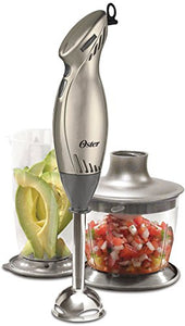 Oster Immersion Hand Blender with Chopper One Size, Silver 250W HANDBLEND