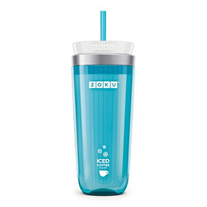 Zoku Iced Coffee Maker, Teal Travel Mug