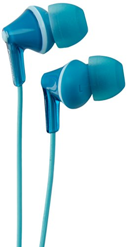 Panasonic RP-HJE125-Z Ergo-Fit Wired Earphones, Earbuds, Turquoise