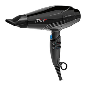 BaBylissPRO BF7000 Rapido Hair Dryer, Lightweight, Quiet, Professional Ferrari Motor, 2000W, Cold Shot, Black