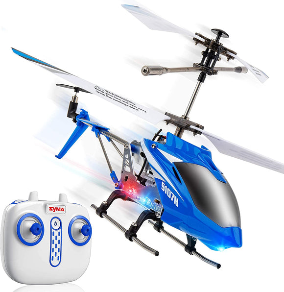 Syma S107H Remote Control Helicopter - with Altitude Hold Indoor RC Helicopter, Blue