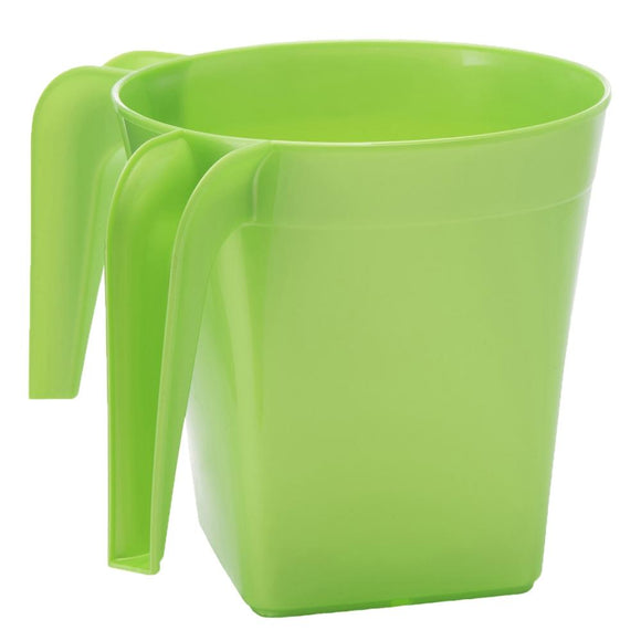 YBM Home Square Plastic Washing Cup, Green