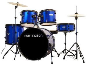 Huntington Full Size Drum Set (Metallic Blue)