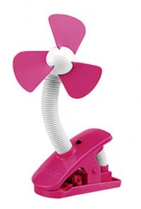 O2 Cool Battery Operated Fan 4 Inch Clip On Fan, Pink (2 AA Batteries, Not Included)