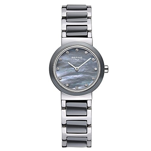 Bering Women's Ceramic Collection Stainless Steel Watch, Silver / Grey