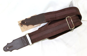 Adjustable Guitar and Bass Strap, Brown