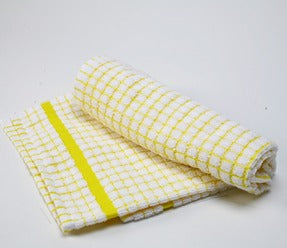 European Art Poli-Check 100% Cotton Dish Towel, Yellow