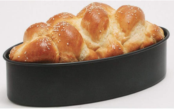 Magic Mill Heavy Duty NonStick Oval Challah Pan (7