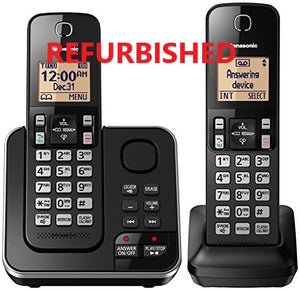 Panasonic 2 Handset Cordless Phone with Answering Machine