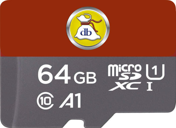 JPod 2 64 GB Micro SD Card with same amount of seforim as 32 GB card