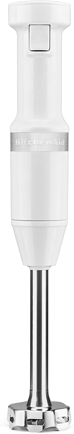 KitchenAid KHBV53WH Variable Speed Corded Hand Blender, White HANDBLEND