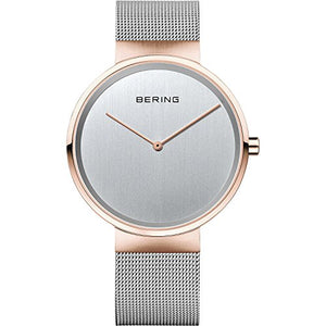 Bering Men's Classic Collection Mesh Band Watch, Gold / Silver