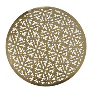 "Harman 14"" Modern Laser Cut Vinyl Placemat, Gold"