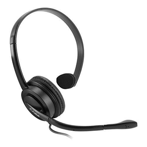 Cellet EP25OP Universal Premium Mono 2.5mm Hands-Free Headset with Boom Microphone for Landline/Cordless Telephones (Not for Smartphone)