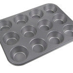 "La Patisserie MIN12 12 Cup Nonstick Mini Muffin Pan (7.5""x10"")"