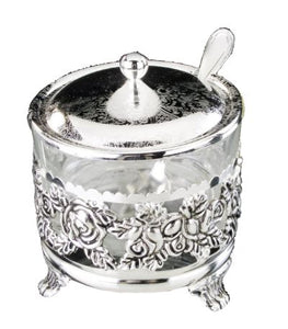 A&M Judaica Nua Silver Plated Honey Dish, 4""