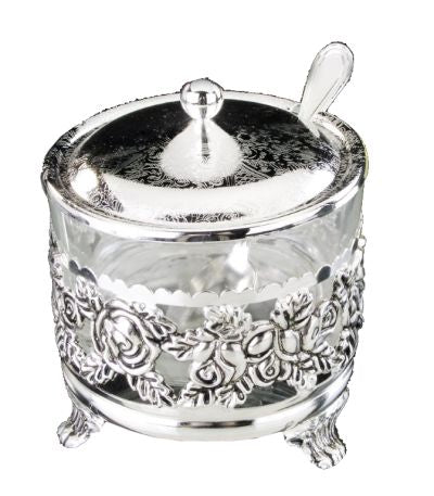 A&M Judaica Nua Silver Plated Honey Dish, 4