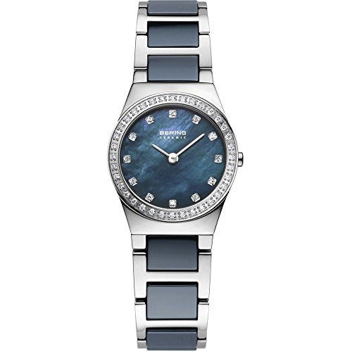 Bering Women's Ceramic Collection Watch, Silver / Grey