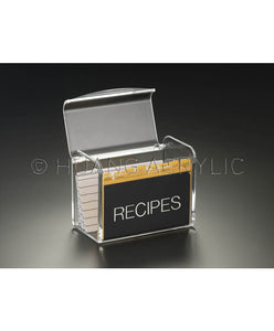 Huang Acrylic Recipe Box For 5x3 Cards