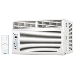 Impecca 8,000 BTU Electronic Controls Window Air Conditioner, Energy Star, For Rooms up to 350 sq. ft., 3 Cooling & 3 Fan Only Speeds, 8-Way Air Direction, 24 Hour On+Off Timer, Auto Restart, Energy Saver, Sleep Mode, Clean Filter Indicator, Remote Contro