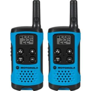 Motorola T100 16 Miles 22 Channel Talkabout 2 Two Way Walkie Talkie Radio Radio, Blue - 2 Pack - Requires 3 x AAA Batteries WALKTALK